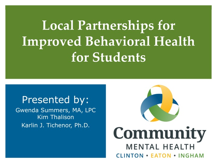 local partnerships for improved behavioral health for students n.