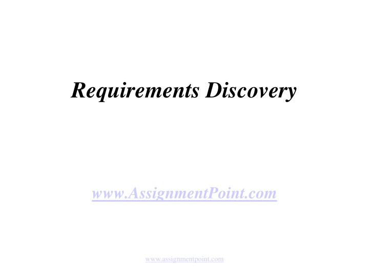 requirements discovery n.