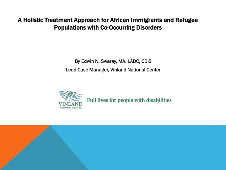 a holistic treatment approach for african n.