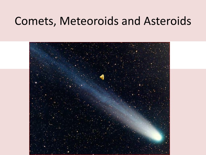 comets meteoroids and asteroids n.