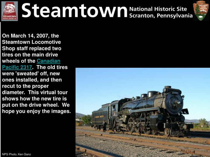 on march 14 2007 the steamtown locomotive shop n.