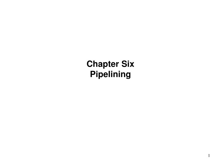 chapter six pipelining n.