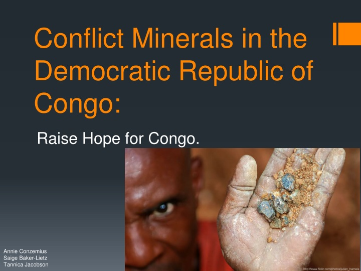 conflict minerals in the democratic republic of congo n.