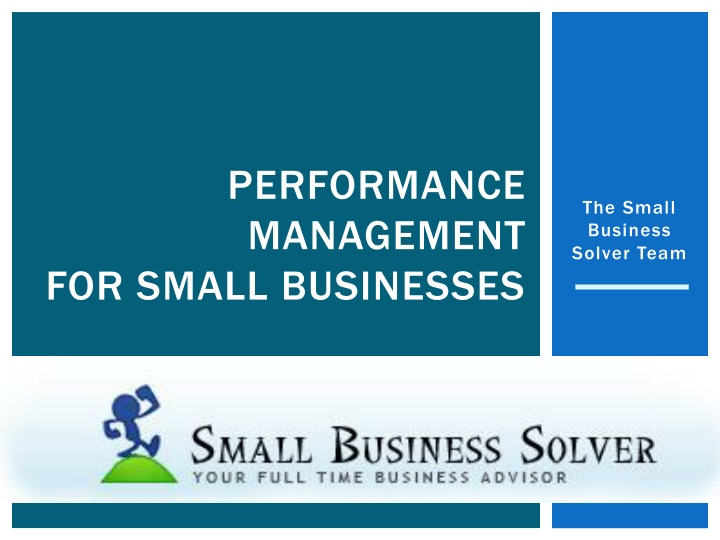 performance management for small businesses n.
