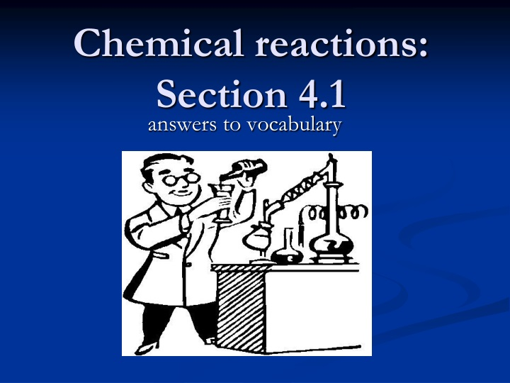 chemical reactions section 4 1 n.