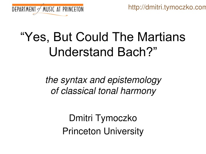 yes but could the martians understand bach the syntax and epistemology of classical tonal harmony n.