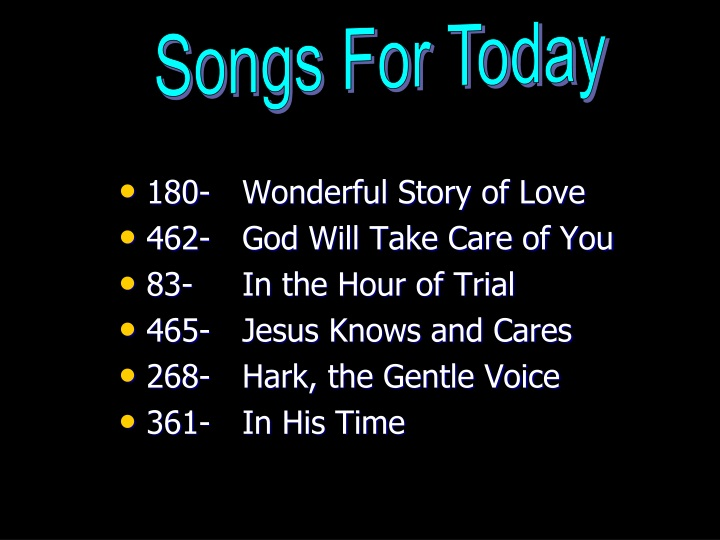 songs for today n.