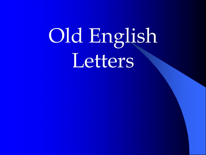 old english letters n.
