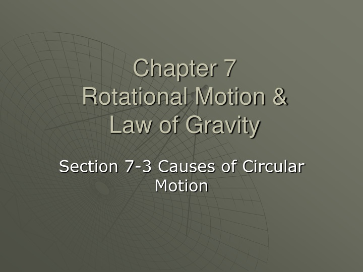 chapter 7 rotational motion law of gravity n.
