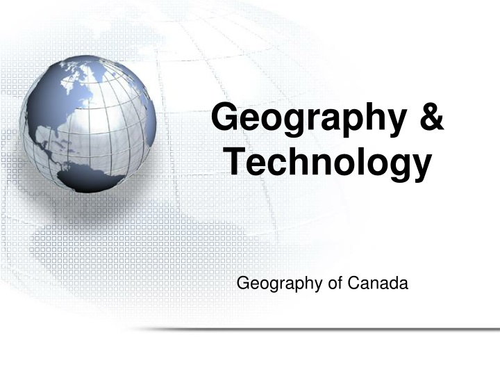 geography technology n.