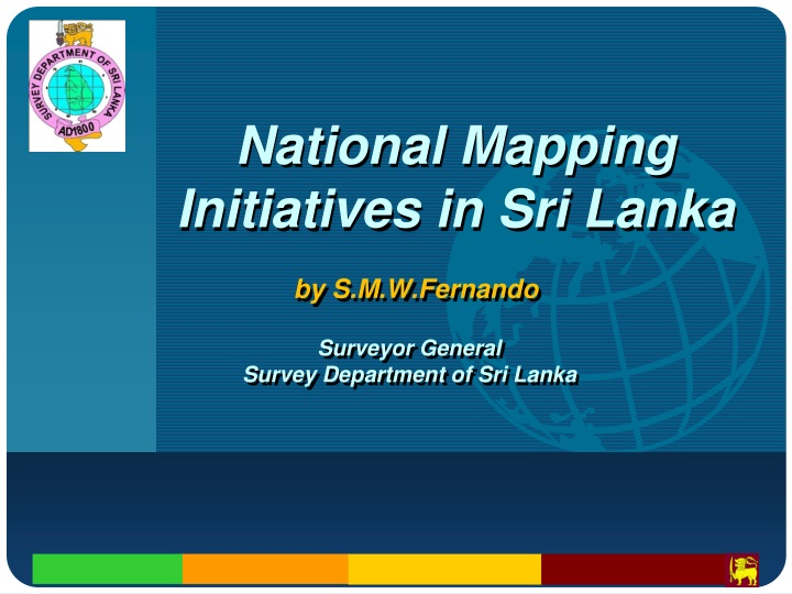 national mapping initiatives in sri lanka n.