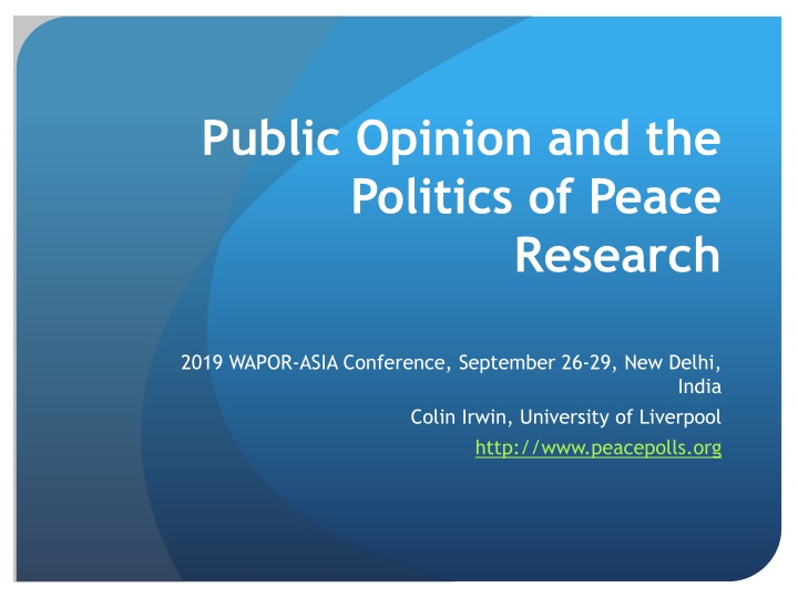 public opinion and the politics of peace research n.
