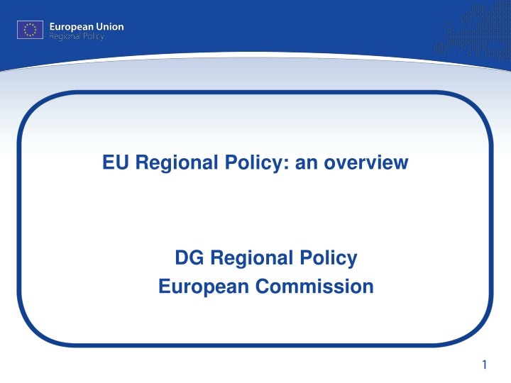 eu regional policy an overview n.