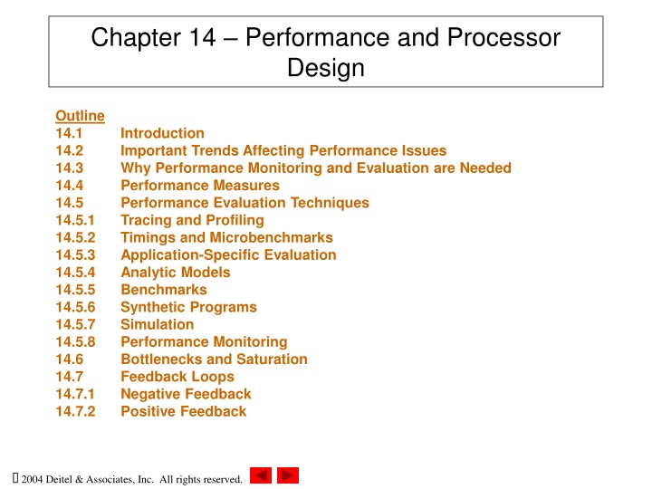 chapter 14 performance and processor design n.