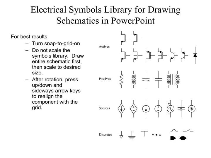 Ppt Electrical Symbols Library For Drawing Schematics In Powerpoint Powerpoint Presentation Id 219194