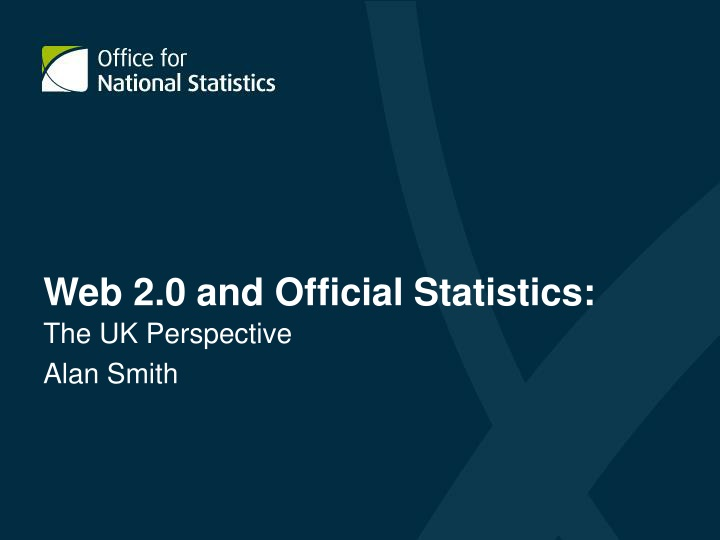 web 2 0 and official statistics n.