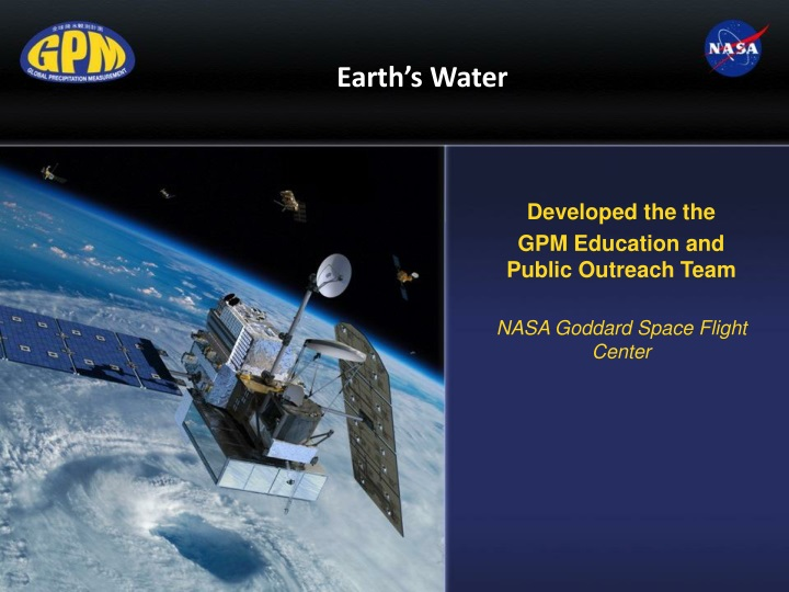 developed the the gpm education and public outreach team nasa goddard space flight center n.
