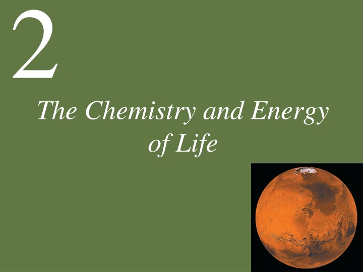 the chemistry and energy of life n.