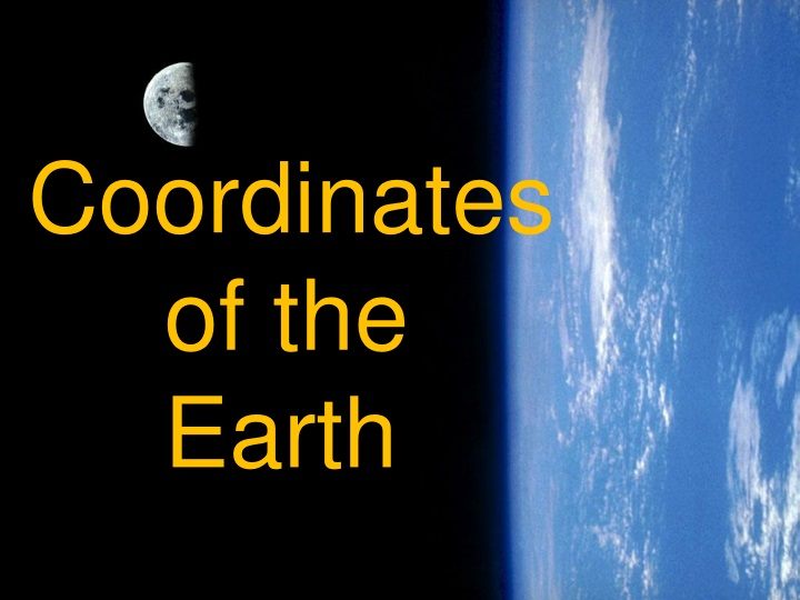 coordinates of the earth n.
