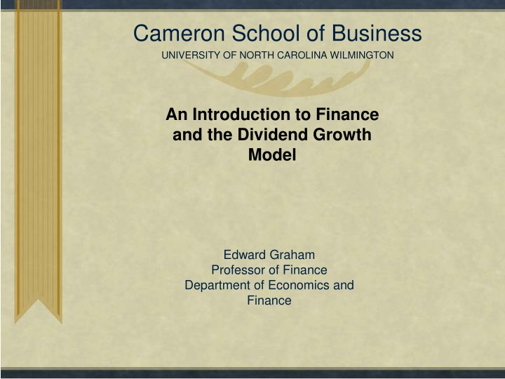 cameron school of business university of north carolina wilmington n.
