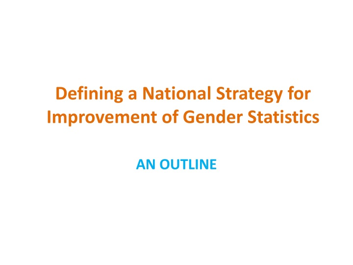 defining a national strategy for improvement n.