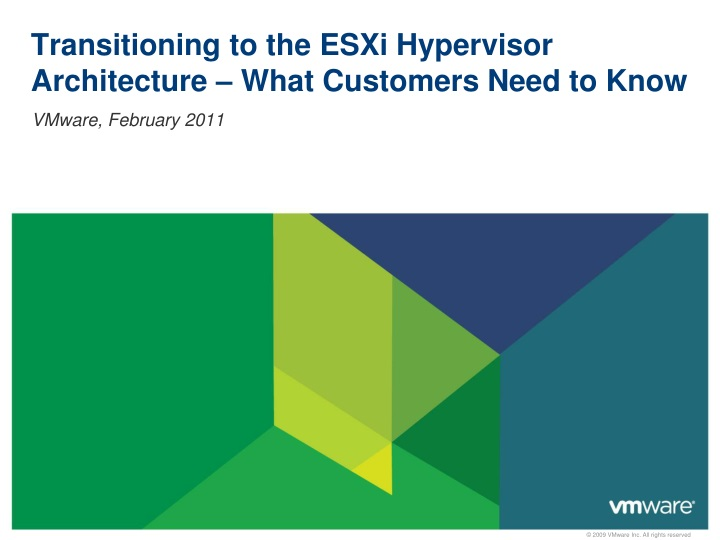transitioning to the esxi hypervisor architecture what customers need to know n.