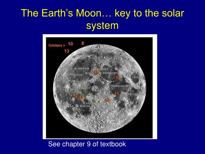 the earth s moon key to the solar system n.