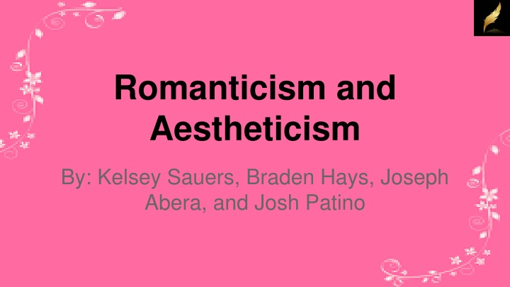 romanticism and aestheticism n.