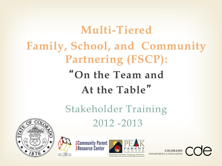 multi tiered family school and community n.