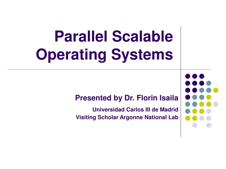 parallel scalable operating systems n.
