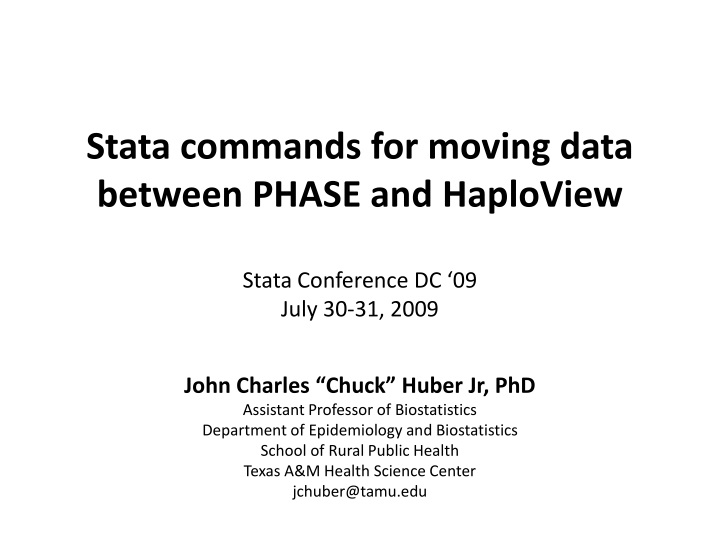 stata commands for moving data between phase and haploview stata conference dc 09 july 30 31 2009 n.
