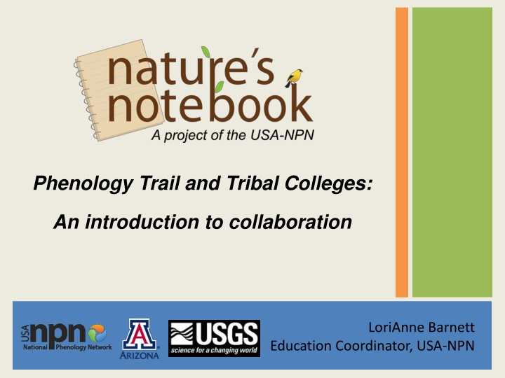 phenology trail and tribal colleges n.