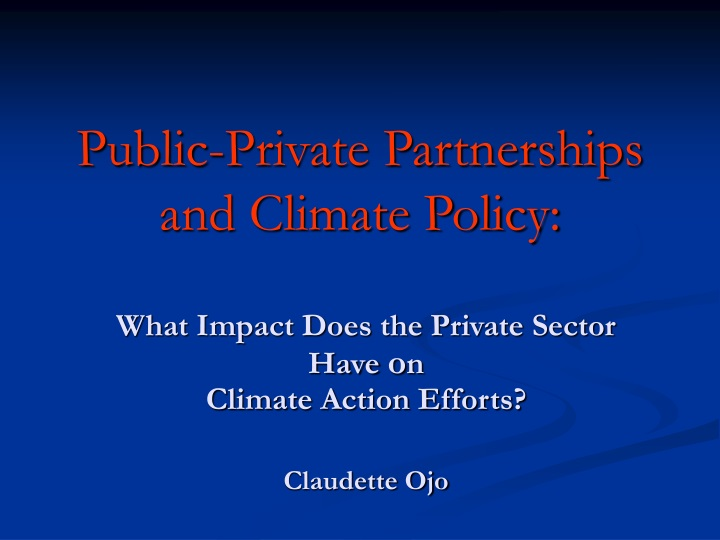 public private partnerships and climate policy n.