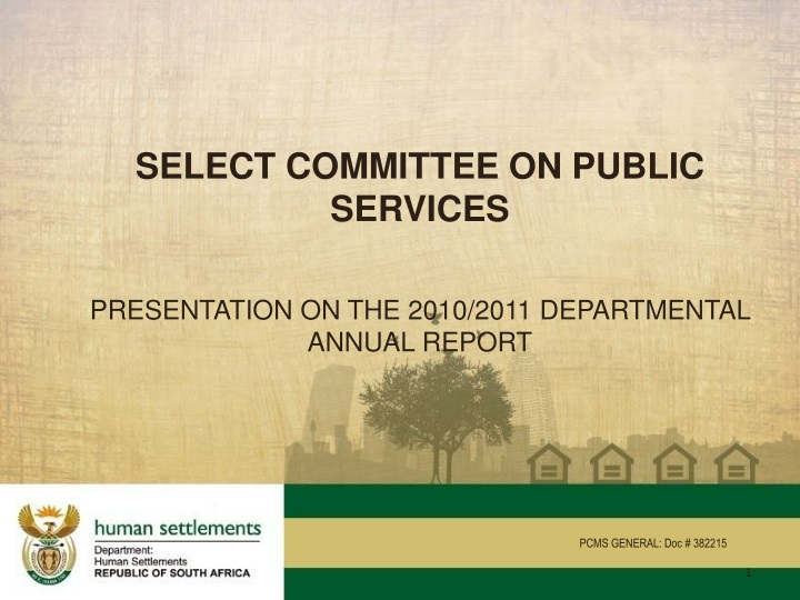select committee on public services presentation n.
