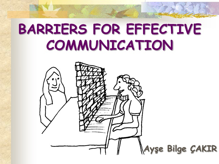 barriers for effective communication n.