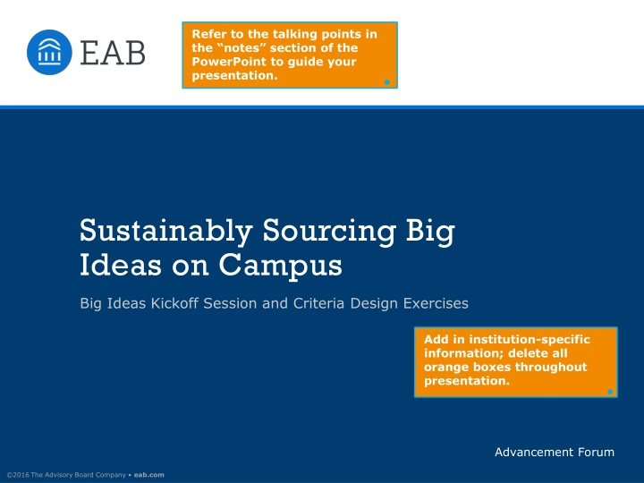 sustainably sourcing big ideas on campus n.