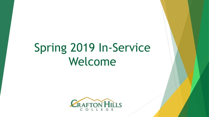 spring 2019 in service welcome n.