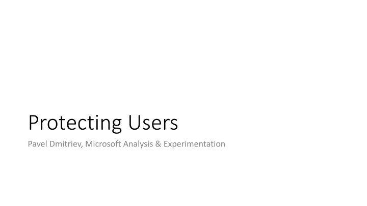 protecting users n.