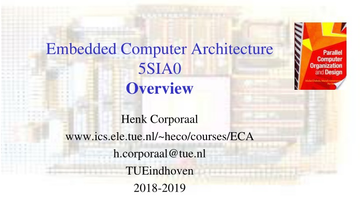 embedded computer architecture 5sia0 overview n.