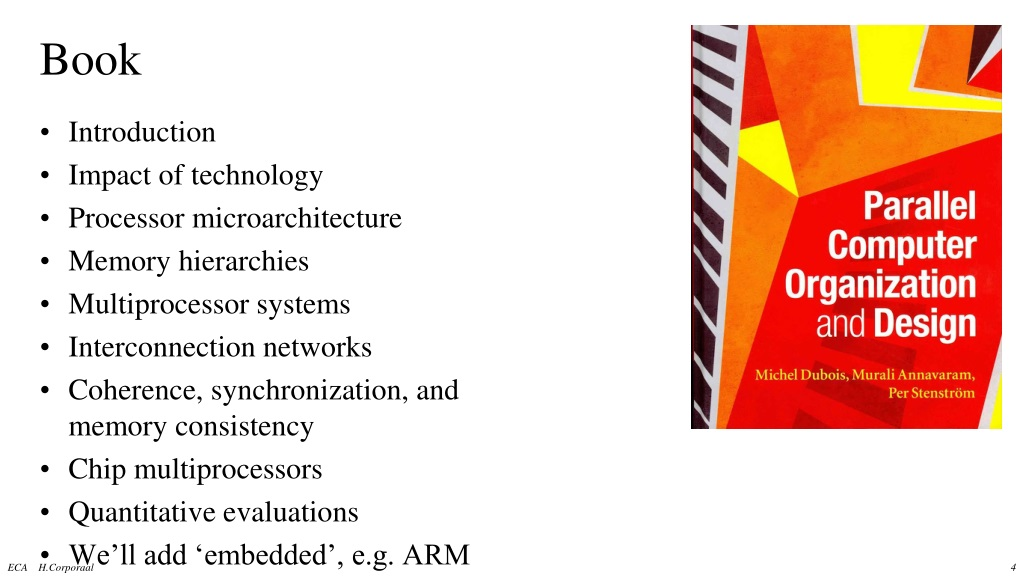Ppt Embedded Computer Architecture 5sia0 Overview Powerpoint Presentation Id 239694