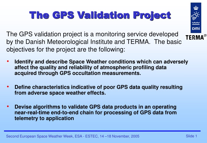 the gps validation project n.