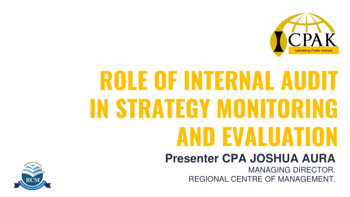 role of internal audit in strategy monitoring and evaluation n.