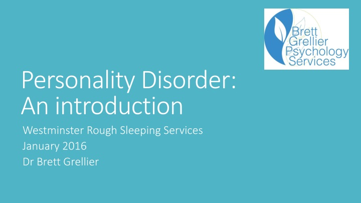 personality disorder an introduction n.