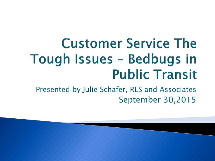 customer service the tough issues bedbugs in public transit n.