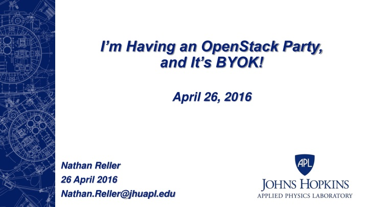 i m having an openstack party and it s byok n.