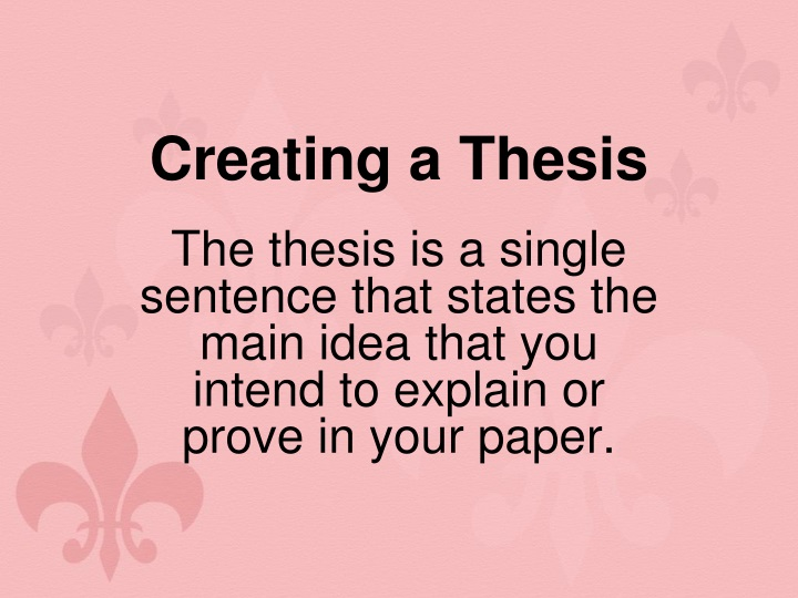 creating a thesis n.