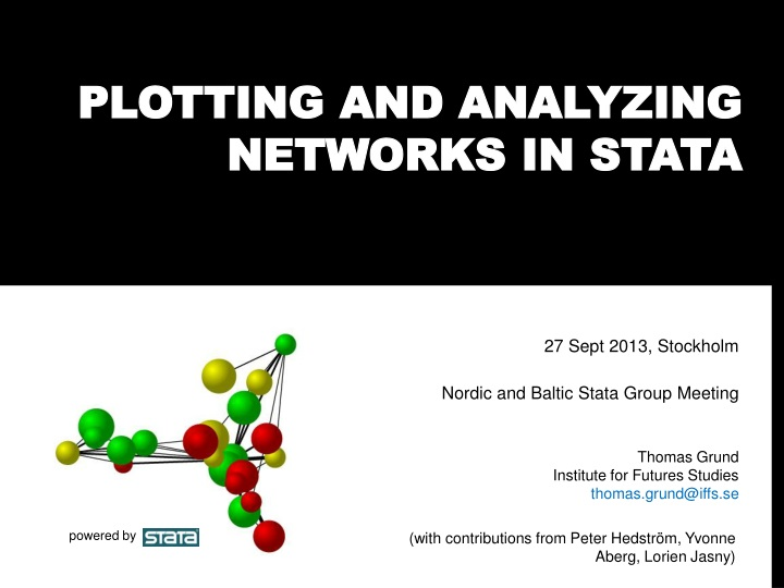 plotting and analyzing networks in stata n.