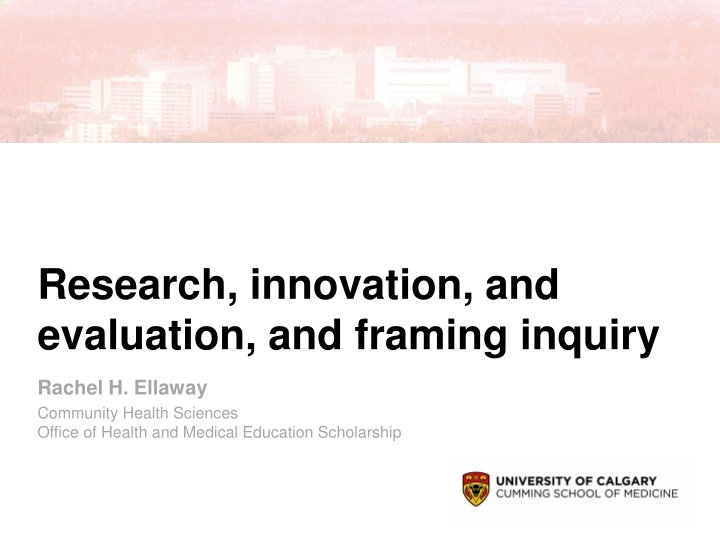 research innovation and evaluation and framing inquiry n.