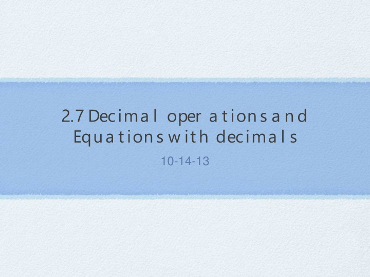 2 7 decimal operations and equations with decimals n.