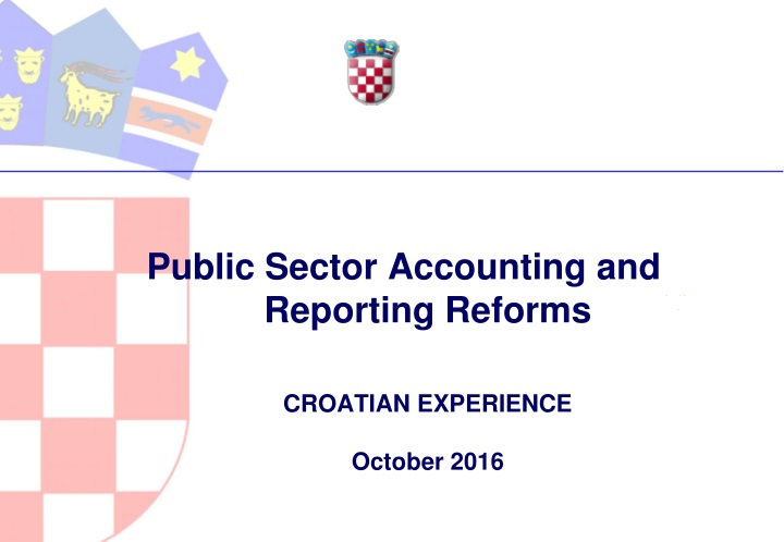 public sector accounting and reporting reforms croatian experience october 2016 n.